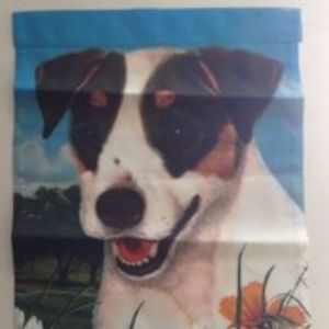 """Other - Fox Terrier Garden Flag Double Sided 11"""" x 15"""" New"""